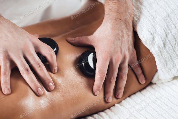 Hot Stone Massage Close Up