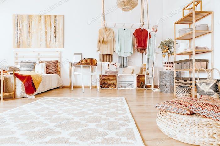 Spacious cozy bedroom