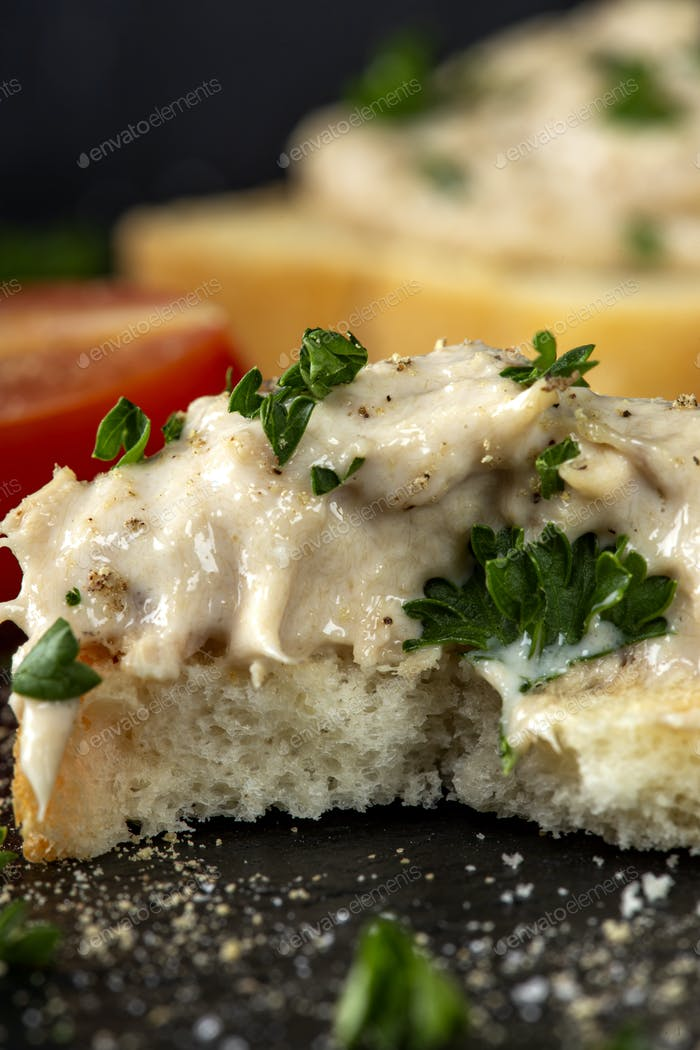Fish appetizer with herbs