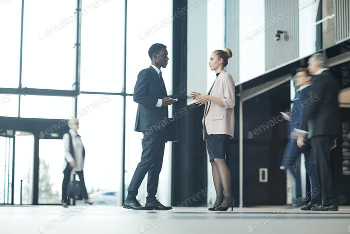 Thumbnail for Business people standing at office