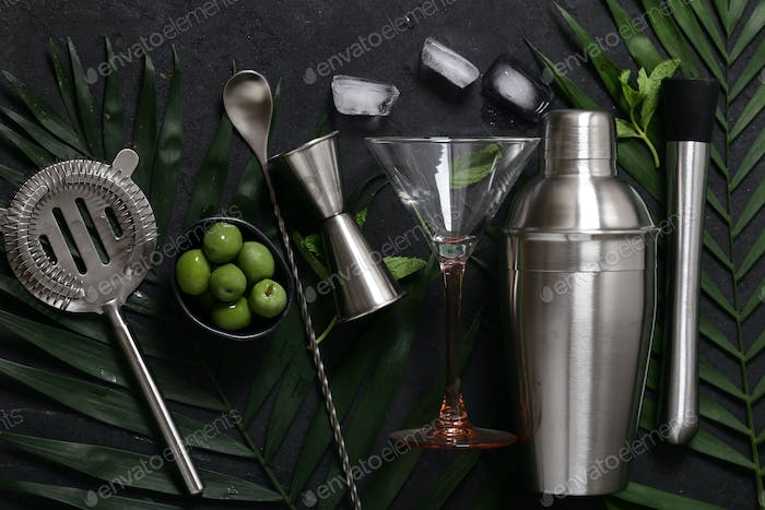 Cocktail Shaker on the Background