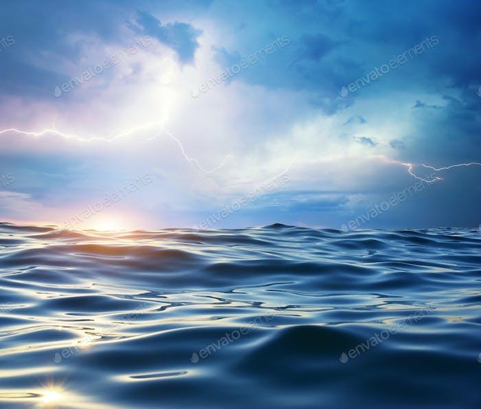 Sturm auf dem Meer.