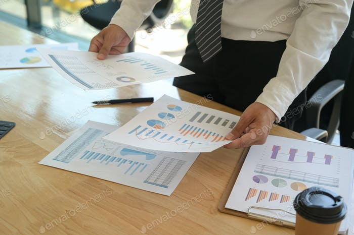 The management is checking the accuracy of the company budget information.