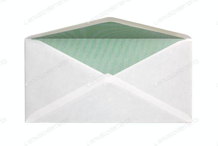 Blank open envelope
