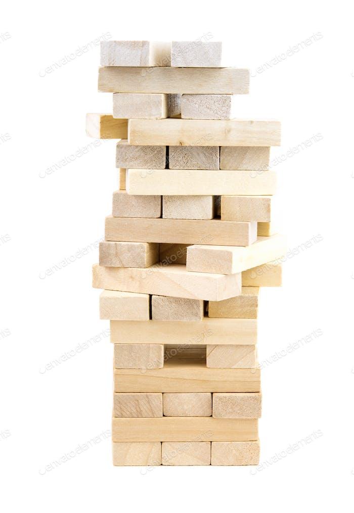 wooden tower blocks game