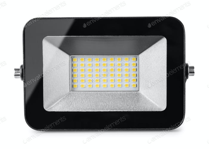 Front view of LED flood light