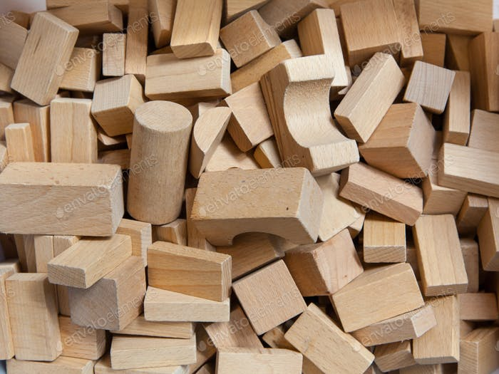Construction Bricks of Wood