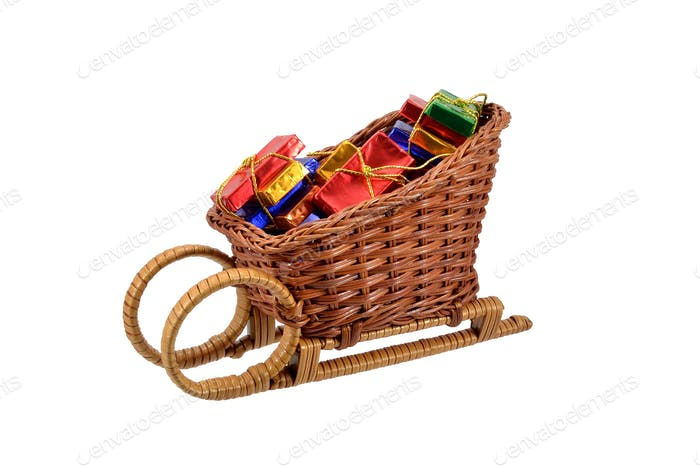 Christmas Confectionery in Sleigh