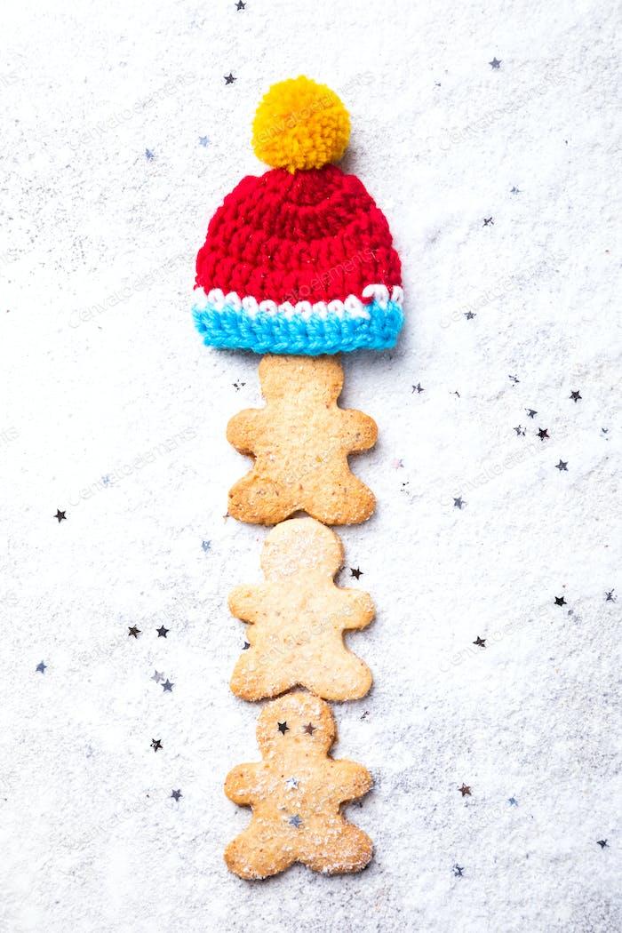 Traditionelles Weihnachtsbacken. Lebkuchenmann