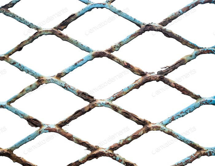 Isolated Old Chain Link Fence