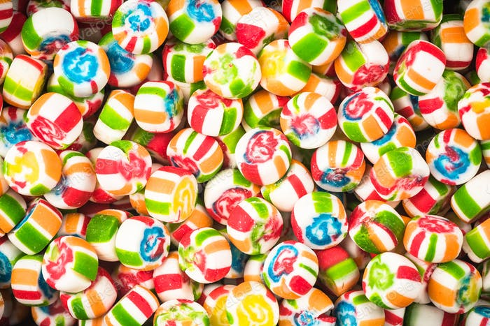 Colorful candy close up background