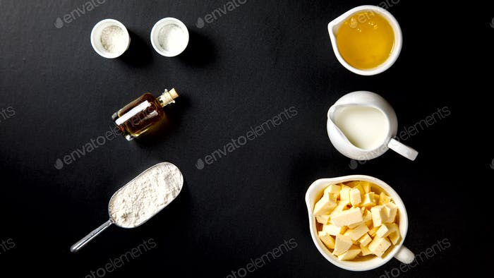 Ingredients for Baking Cake, Pie, Cake or Muffin. step1