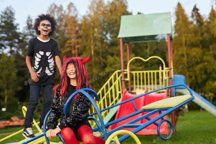Halloween Kids on Playground