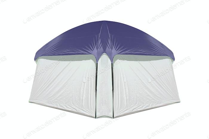 Zelt isoliert isoliert auf weißem Hintergrund