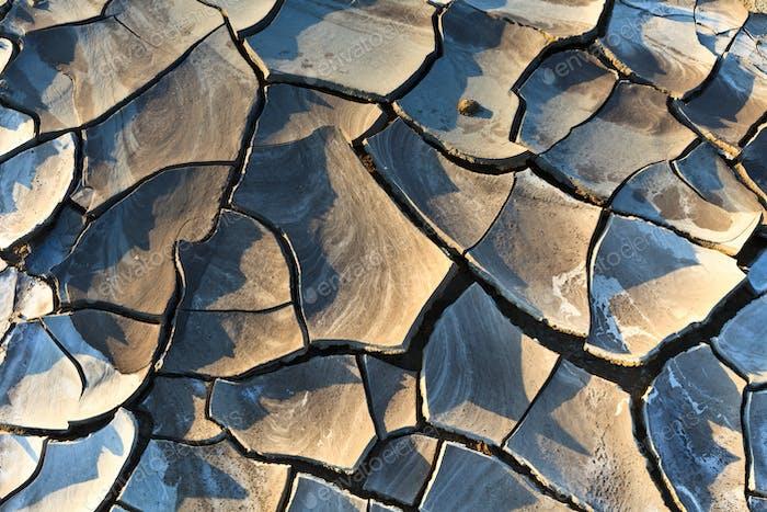 Textur auf trockenem Land