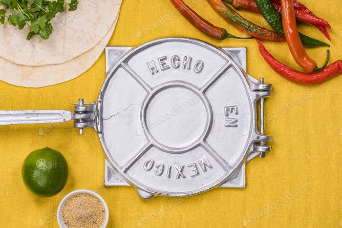 Mexican food preparation concept