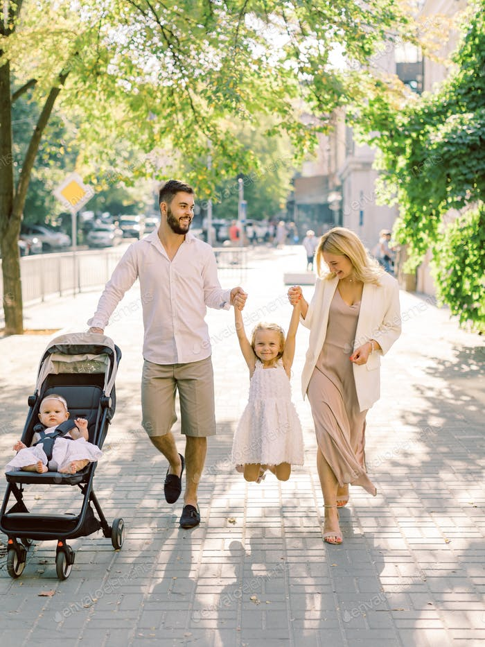 Happiness and harmony in family life. Happy family concept.