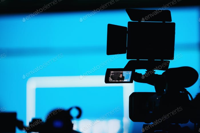 Camera Recording Presentation Of A Speaker