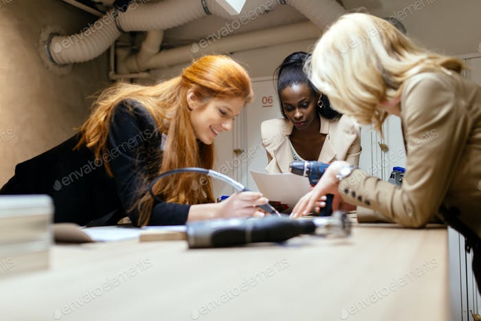 Group of designers working on a project