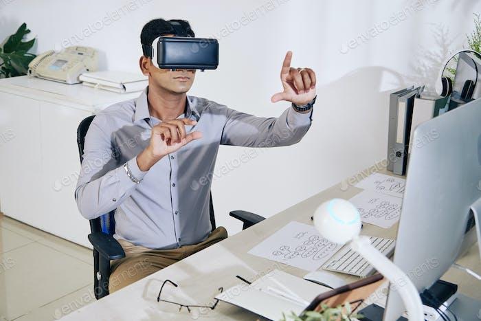 Programmer testing virtual interface