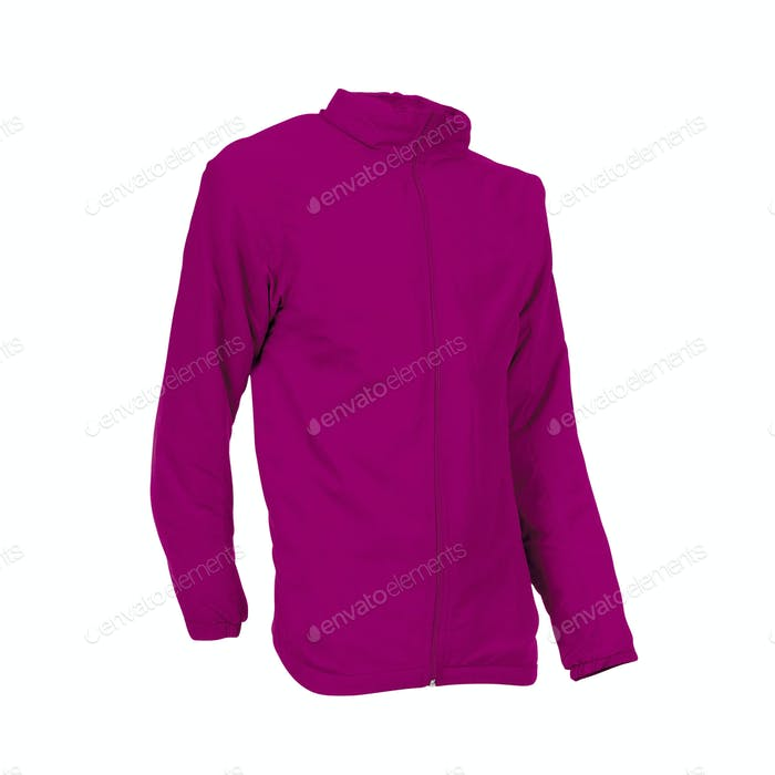 purple hoodie isolated on white