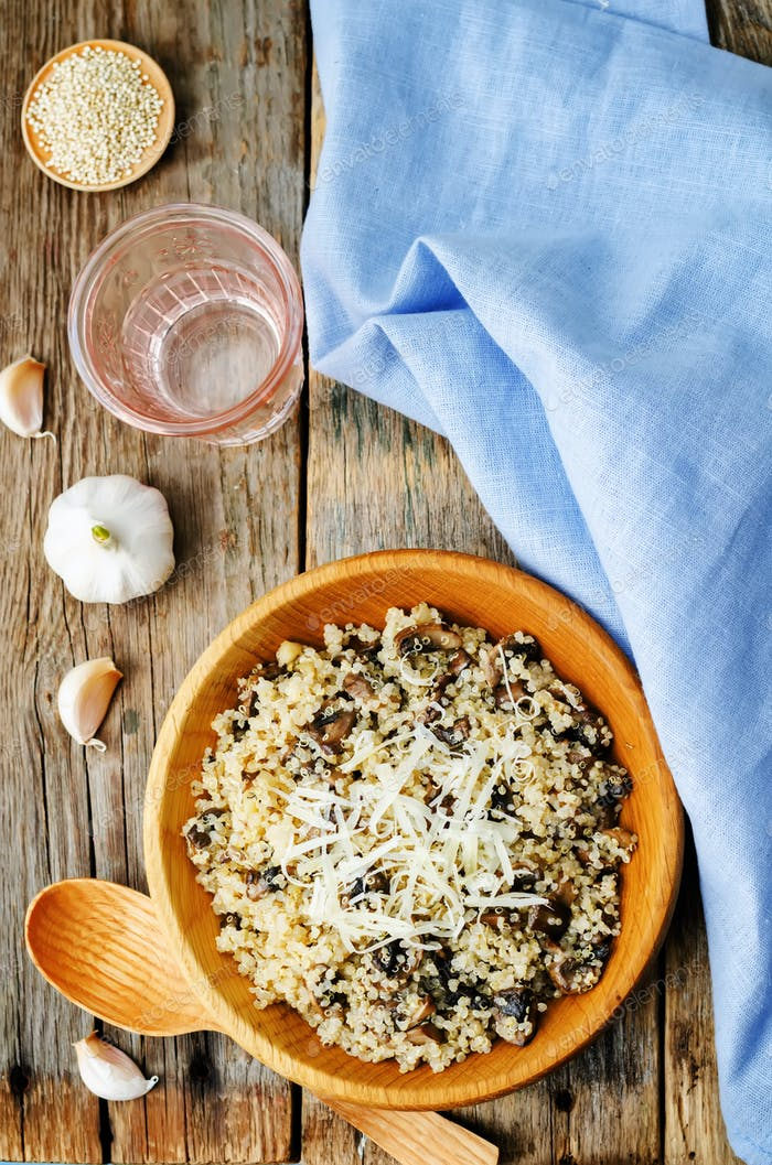 Knoblauchpilz Quinoa