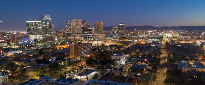 Aerial View Phoenix State Capital City of Arizona Downtown City