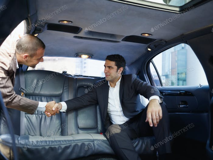 Business People Working In Car