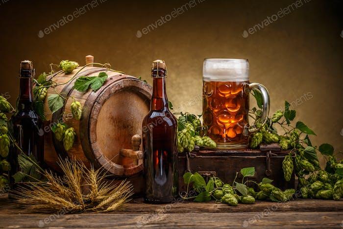 Vintage beer barrel