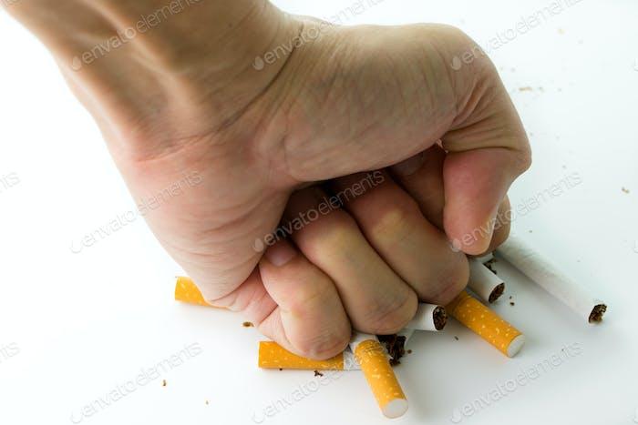 Rauchen aufhören Konzept