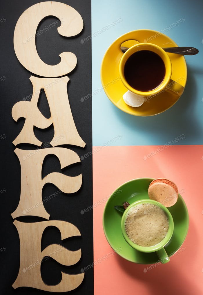 cup of coffee and cacao