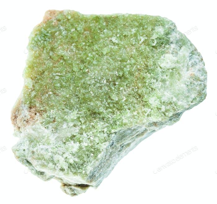 roher Vesuvianit (Idokrase) Stein isoliert