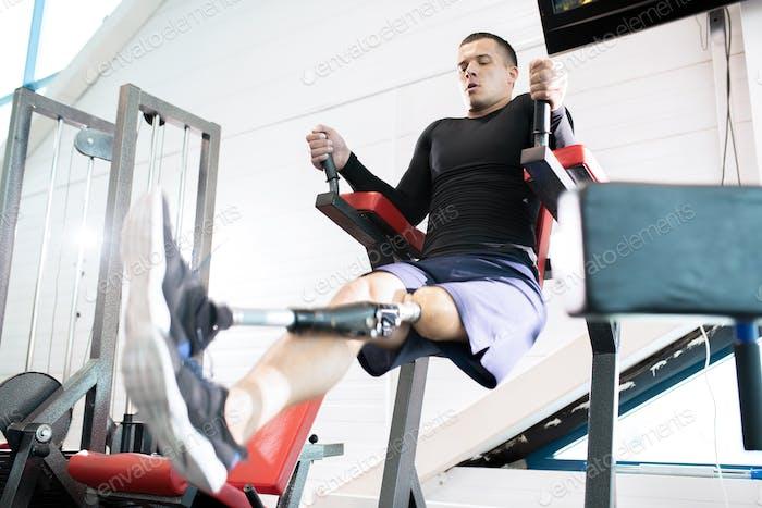 Adaptive Sportsman in Gym