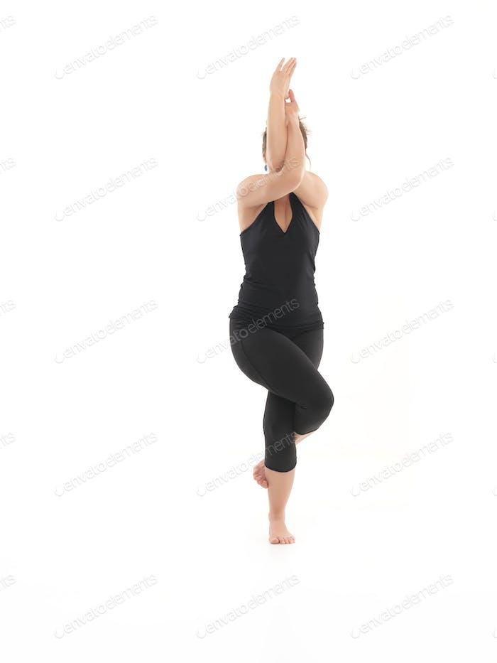 balance yoga pose demonstration