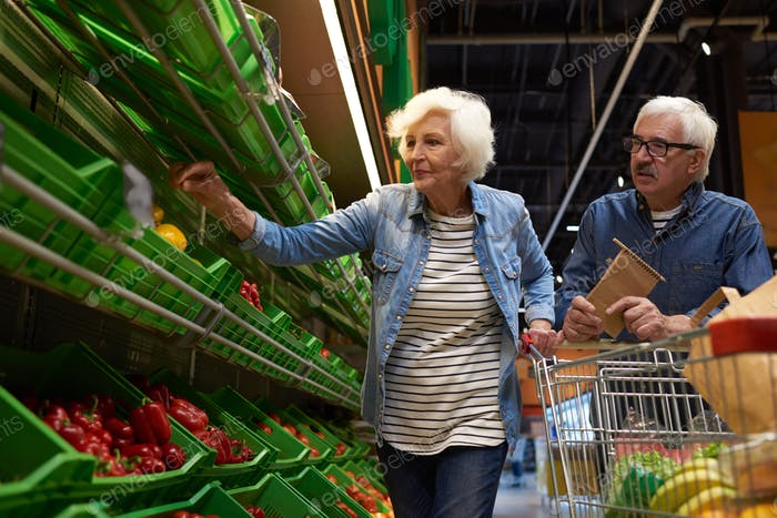 Senior Couple Shopping in Supermarket
