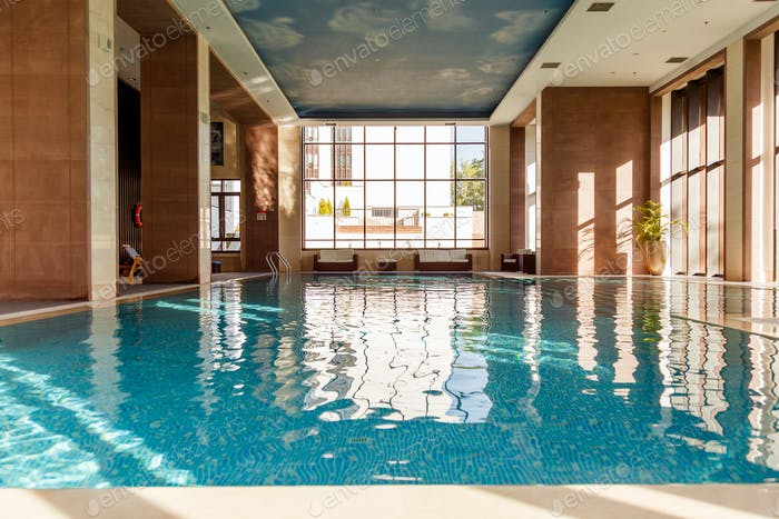 Indoor swimming pool interior