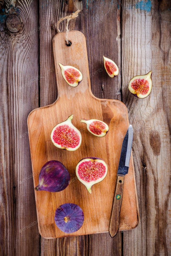 Fresh organic ripe figs