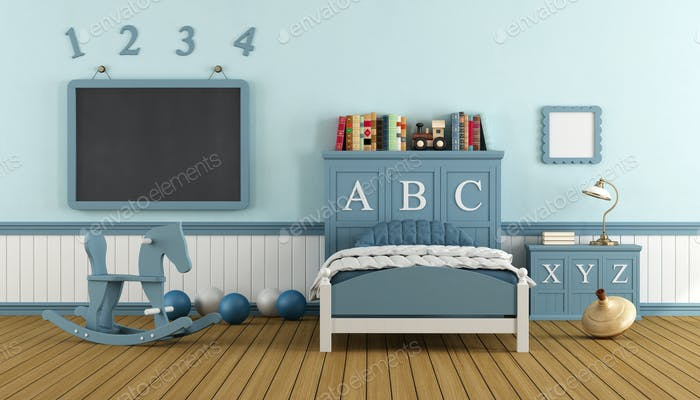 Retro child bedroom