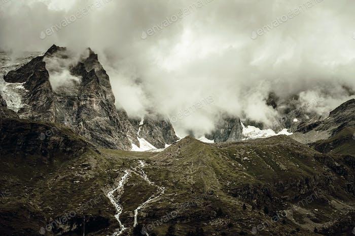 Dramatisch Alpenlandschaft
