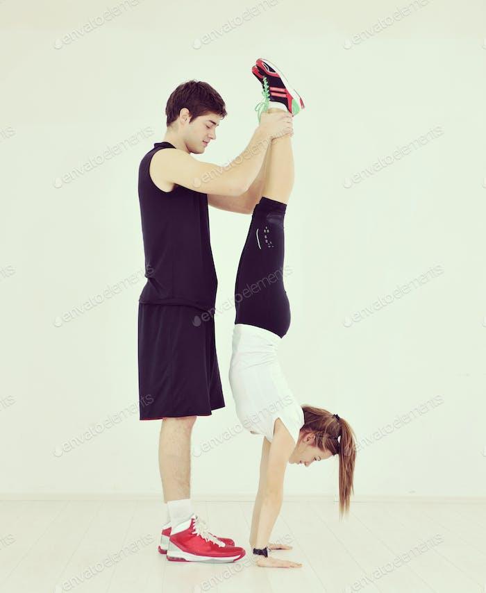 Jugendgruppe im Fitness-Club