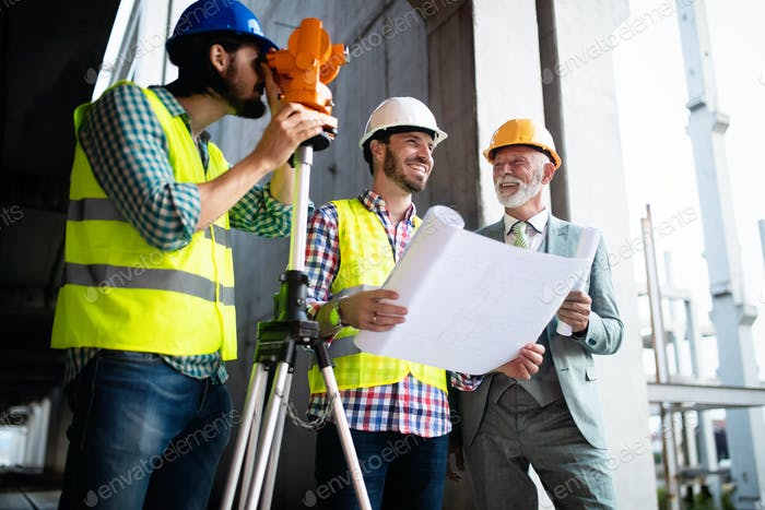 Thumbnail for Engineer, foreman and worker discussing in building construction site