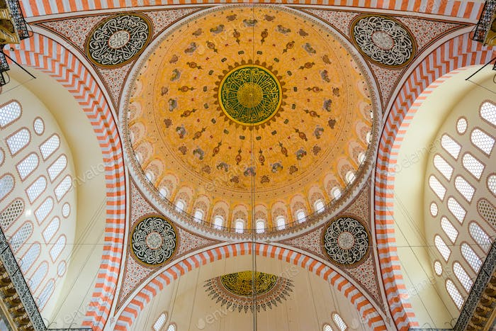Suleymaniye Mosque interior detail