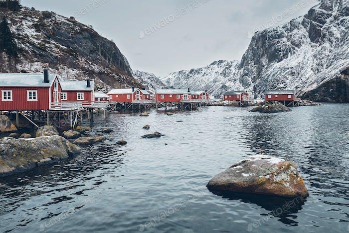 Nusfjord Fischerdorf in Norwa