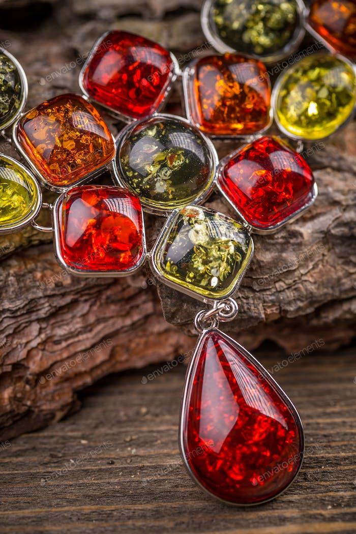 Necklace made of rhinestone