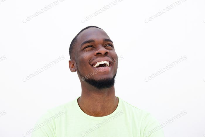Cheerful young african american guy