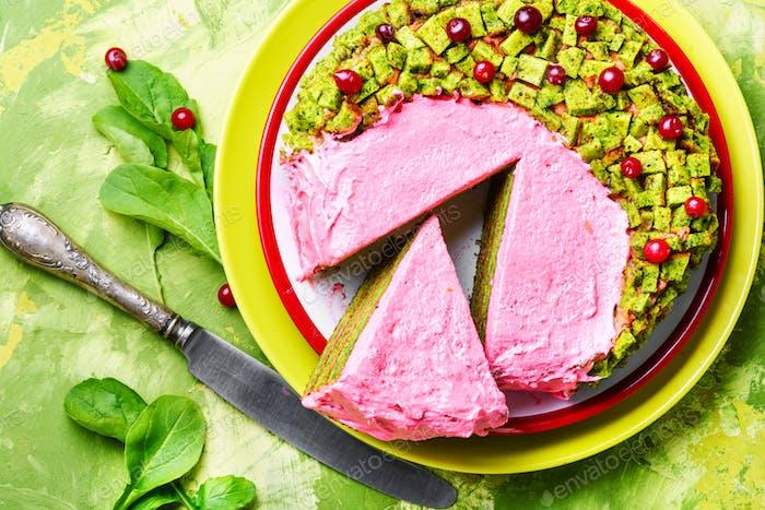 Veganer Kuchen von Kräutern