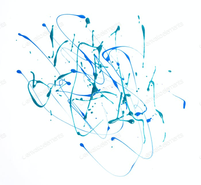 Abstract strokes composition