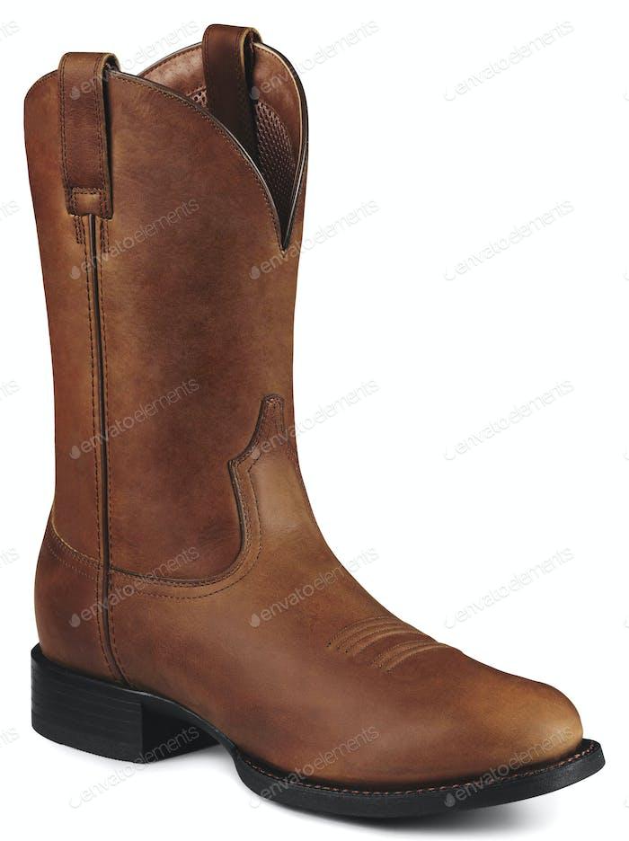 Single Brown Cowboy Boot