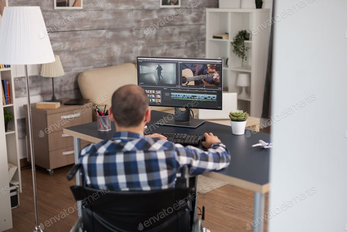 Video editor working from home