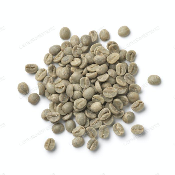 Haufen roher Pamwamba Kaffeebohnen aus Malawi